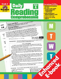 Daily Reading Comprehension, Grade 4 (Enhanced eBook)