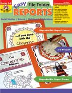 Easy File Folder Reports, Grades 3-6 (Enhanced eBook)