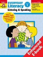 Everyday Literacy: Listening and Speaking, Grade 1 (Enhanced eBook)