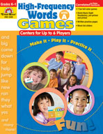 High-Frequency Words: Center Games for Up to 6 Players, Level A (Enhanced eBook)