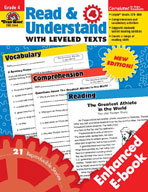 Read and Understand with Leveled Texts, Grade 4 (Enhanced eBook)