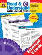 Read and Understand with Leveled Texts, Grade 5 (Enhanced eBook)