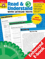 Read and Understand with Leveled Texts, Grade 6+ (Enhanced eBook)