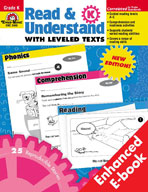 Read and Understand with Leveled Texts: Kindergarten (Enhanced eBook)