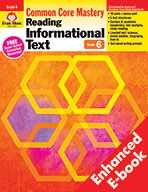 Reading Informational Text: Common Core Mastery, Grade 6 - e-book