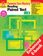 Reading Paired Text: Common Core Mastery, Grade 4 - e-book
