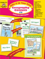 Take It to Your Seat Geography Centers, Grades 3-4 (Enhanced eBook)