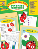Take It to Your Seat Phonics Centers, Level A, Grade PK-K (Enhanced eBook)