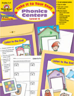 Take It to Your Seat Phonics Centers, Level C, Grades 1,2 (Enhanced eBook)