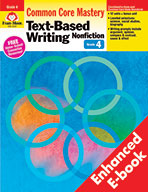 Text-Based Writing: Nonfiction: Common Core Mastery, Grade 4 - e-book