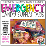 EMERGENCY CANDY SUPPLY TAGS