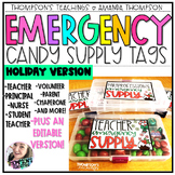 Winter Gift Tags   EMERGENCY CANDY SUPPLY TAGS