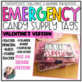 VALENTINE'S DAY gift tags | Emergency Candy Supply