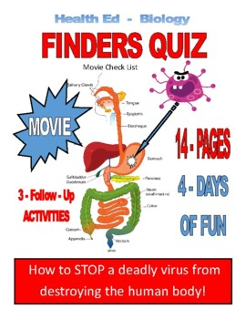 "EMERGENCY LESSON  ""MOVIE"" for Biology - Health Ed - 17-PAGES  3-ACTIVITIES"