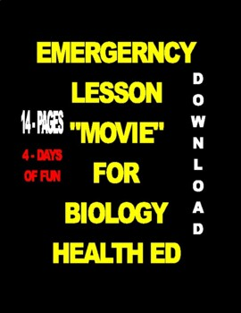 "S.T.E.M.  ""MOVIE"" for Biology - Health Ed - 17-PAGES  3-ACTIVITIES"