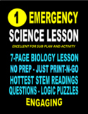 EMERGENCY STEM BIOLOGY LESSON  22-PAGES   ***** 5-STAR SALE  $19.99  ENGAGING
