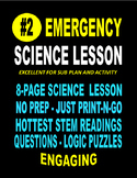 "#2  EMERGENCY STEM ""SCIENCE"" LESSON  21-PAGES   SALE  $8.5"