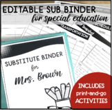 EMERGENCY SUBSTITUTE BINDER WITH SPED FORMS