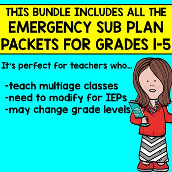 DISTANCE LEARNING PACKETS Emergency Sub Plans or At Home Learning grades 1-5