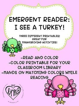 EMERGENT READER: I SEE A TURKEY