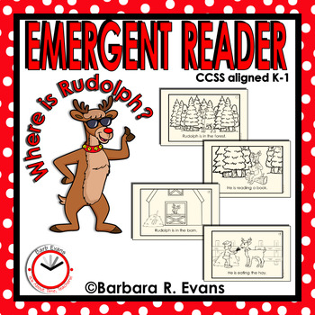 EMERGENT READER for CHRISTMAS: Where is Rudolph?