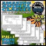 Animal Classes for PK-1: Amazing Animals Book Bundle (Cut-and-Glue Science)