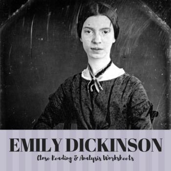 EMILY DICKINSON Poetry Analysis Worksheets and Literary Device Tracker