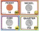 EMOJI 1st Grade Math Money Posters Task Cards Flash Cards - Texas TEKS 1.4