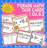 EMOJI 1st Grade Math Problems Task Cards Commutative Associative-CC 1.OA.B.3