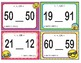 EMOJI 1st Grade Math Problems Task Cards Flash Cards - Florida MAFS.1.NBT.2.3