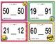EMOJI 1st Grade Math Problems Task Cards Flash Cards - Georgia MGSE1.NBT.3