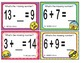 EMOJI 1st Grade Math Problems Task Cards Flash Cards - Georgia MGSE1.OA.8