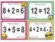 EMOJI 1st Grade Math Problems Task Cards Flash Cards - Georgia MSGE1.OA.7