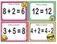 EMOJI 1st Grade Math Problems Task Cards-True False Equal- Common Core Aligned