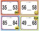 EMOJI 1st Grade Math Problems Task Cards-  Two-Digit #s - Common Core Aligned