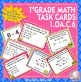 1.OA.C.6 Common Core - 1st Grade Math Task Cards Add Subtract Within 20