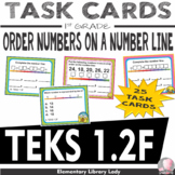 Math TEKS 1.2F Texas 1st Grade Task Cards Order Numbers Open Number Line