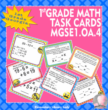 Georgia Math MGSE1.OA.4 1st Grade Task Cards Subtraction with Unknown Addend