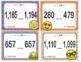 EMOJI 2nd Grade Math Greater/Equal/Less 1,200 Task Flash Cards - Texas TEKS 2.2D