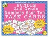 EMOJI 2nd Grade Math Problems 225 Task Cards - CC Aligned 2.NBT #1-9 BUNDLE