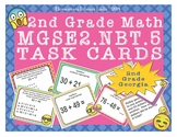 Georgia Math MGSE2.NBT.5 2nd Grade Task Cards Add and Subtract to 100