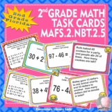 Florida Math MAFS.2.NBT.2.5 2nd Grade Task Cards Add and Subtract to 100