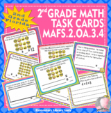 MAFS.2.OA.3.4 Florida - EMOJI 2nd Grade Math Problems Task Cards Arrays