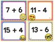 EMOJI 2nd Grade Math Problems Task Cards Flash Cards-Add Subtract Within 20-CCSS