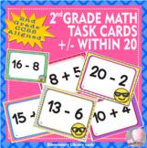 EMOJI 2nd Grade Math Problems Task Cards Flash Cards-Add S