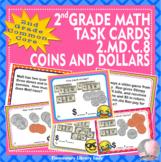EMOJI 2nd Grade Math Problems Task Cards Flash Cards - Com