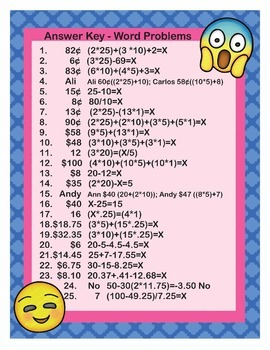 EMOJI 2nd Grade Math Problems Task Cards Flash Cards - Common Core 2.MD.C.8