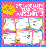 EMOJI 2nd Grade Math Problems Task Cards Flash Cards - Flo