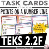 Math TEKS 2.2F Texas 2nd Grade Task Cards Point on a Number Line