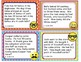 EMOJI 3rd Grade Math Problems Task Cards Flash Cards - Common Core 3.OA.D.8